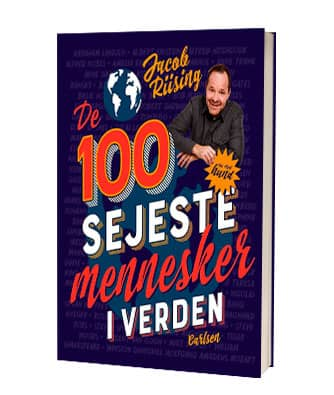 'De 100 sejeste mennesker i verden' af Jacob Riising