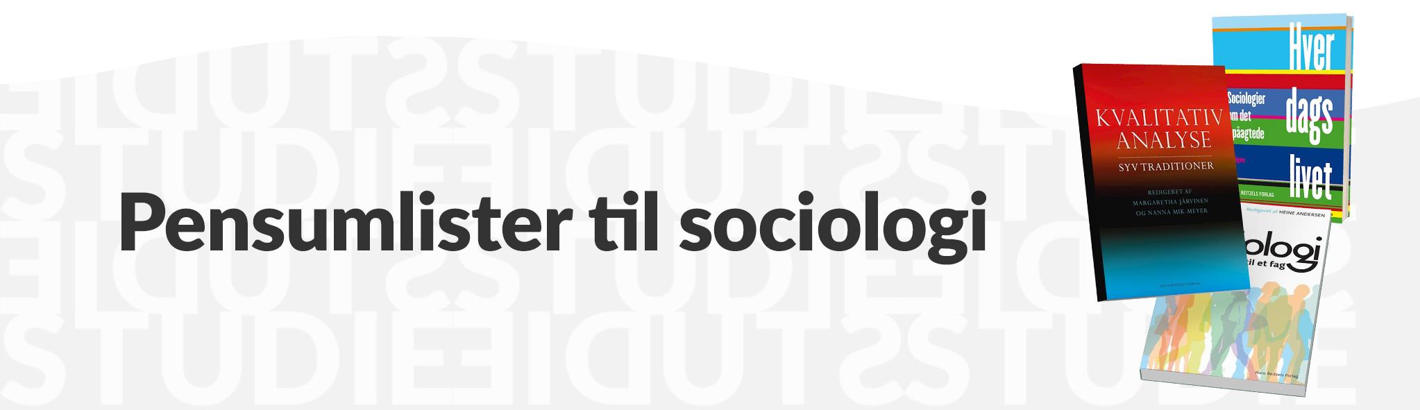 Pensumlister til sociologi