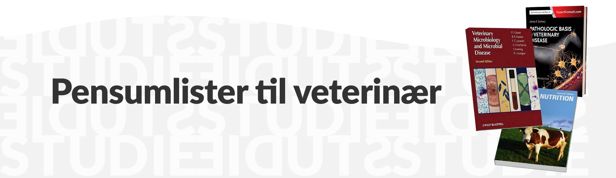 Pensumlister til veterinær