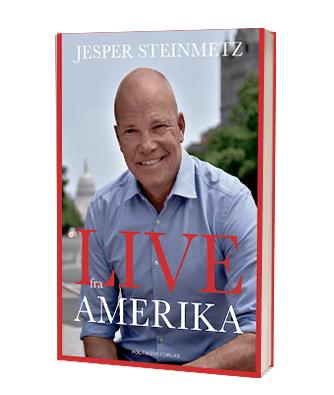 Bogen 'Live fra Amerika'  af Jesper Steinmetz