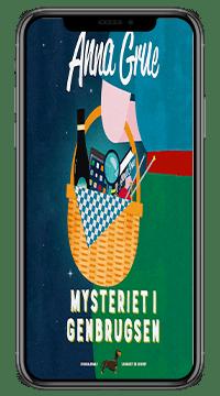 Krimien 'Mysteriet i Genbrugsen' af Anne Grue