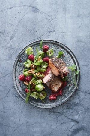 Laks med hindbær vinaigrette - Kjeld Sørensen