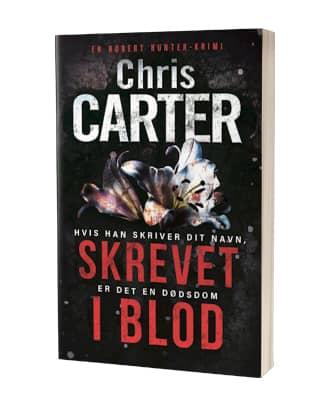 'Skrevet i blod' af Chris Carter - 11. bog i Robert Hunter-serien