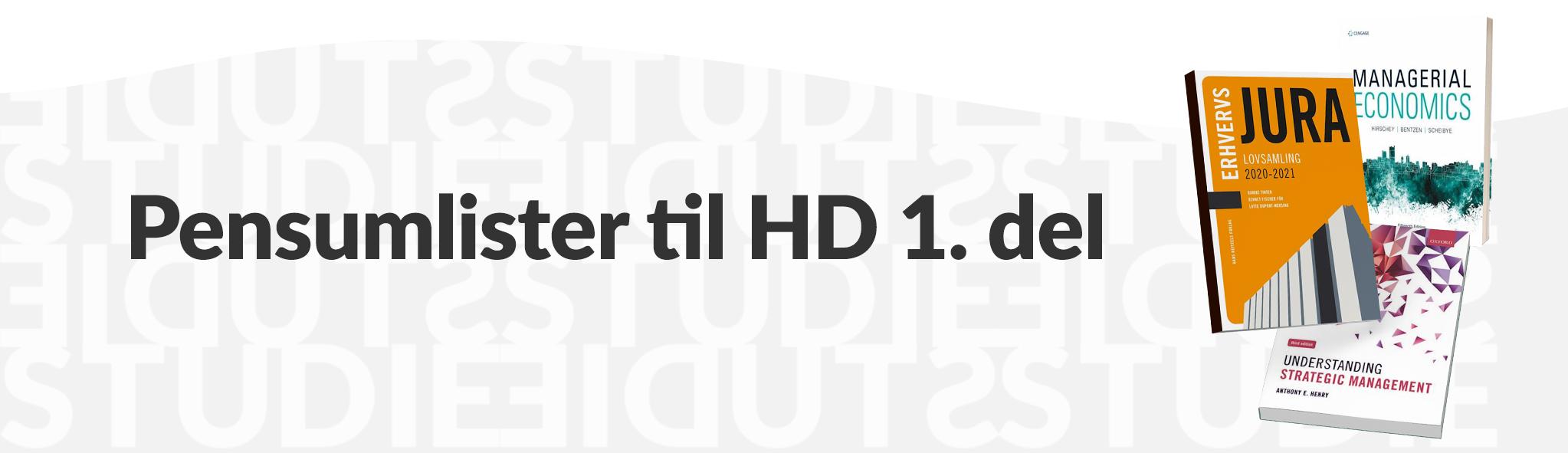 Pensumlister til HD 1 del