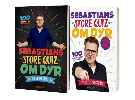 'Sebastians store quiz om dyr' og 'Sebastians store quiz om dyr 2' af Sebastian Klein