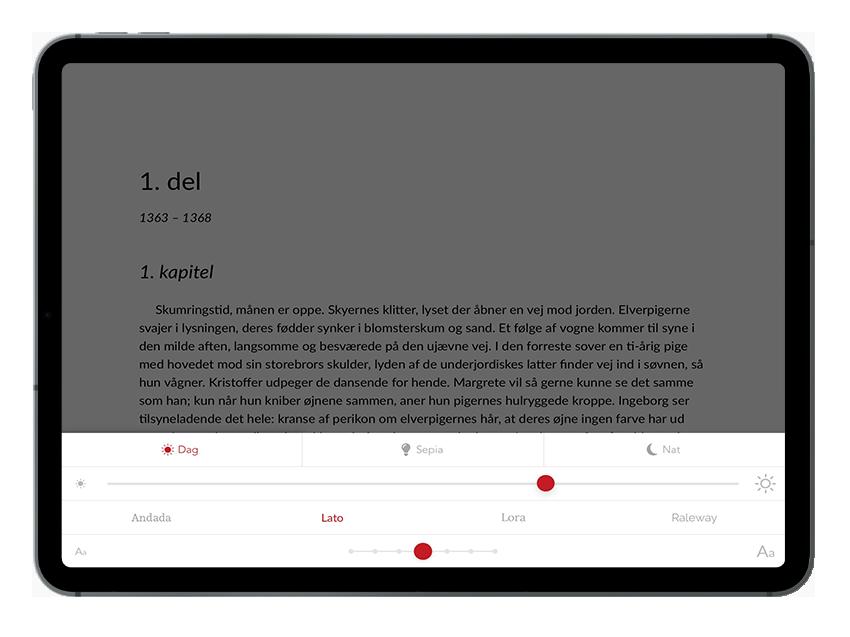 iPad åben e-bog