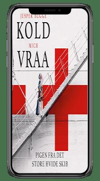 Bogen 'Pigen fra det store hvide skib' af Mich Vraa og Jesper Bugge Kold