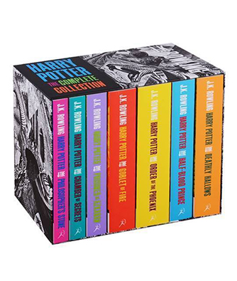 Bogen 'Harry Potter (1-7) - Boxed Set (PB) - Adult edition - B-format - Contains: Philosopher's Stone / Chamber of Secrets / Prisoner of Azkaban / Goblet of Fire / Order of the Phoenix / Half-Blood Prince / Deathly Hollows' af J. K. Rowling