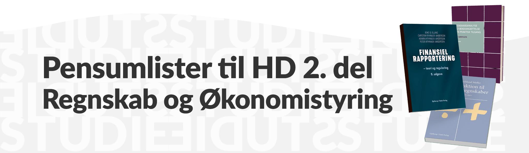 Pensumlister til HD 1 del regnskab og økonomistyring