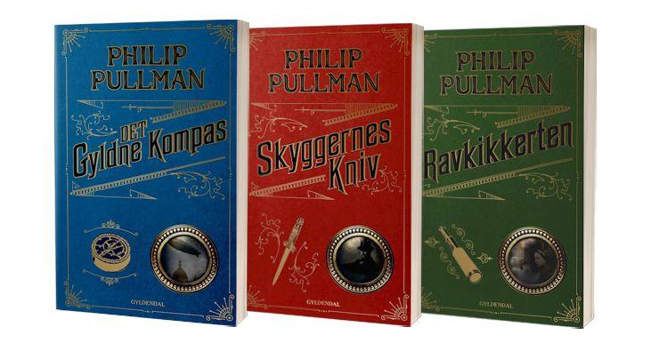 Bøgerne i 'Det gyldne kompas'-serien af Philip Pullman