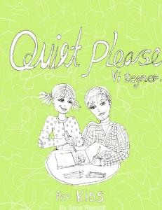 'Quiet please - vi tegner' 2 af Stine Reintoft