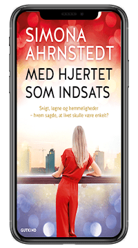 Romanen 'Med hjertet som indsats' af Simona Ahrnstedt