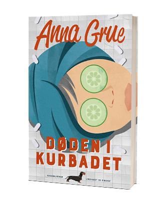 Hyggekrimien 'Døden i kurbadet' af Anna Grue