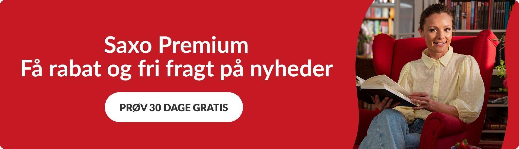 'Fri fragt og rabat på nyheder' - Saxo Premium topbanner