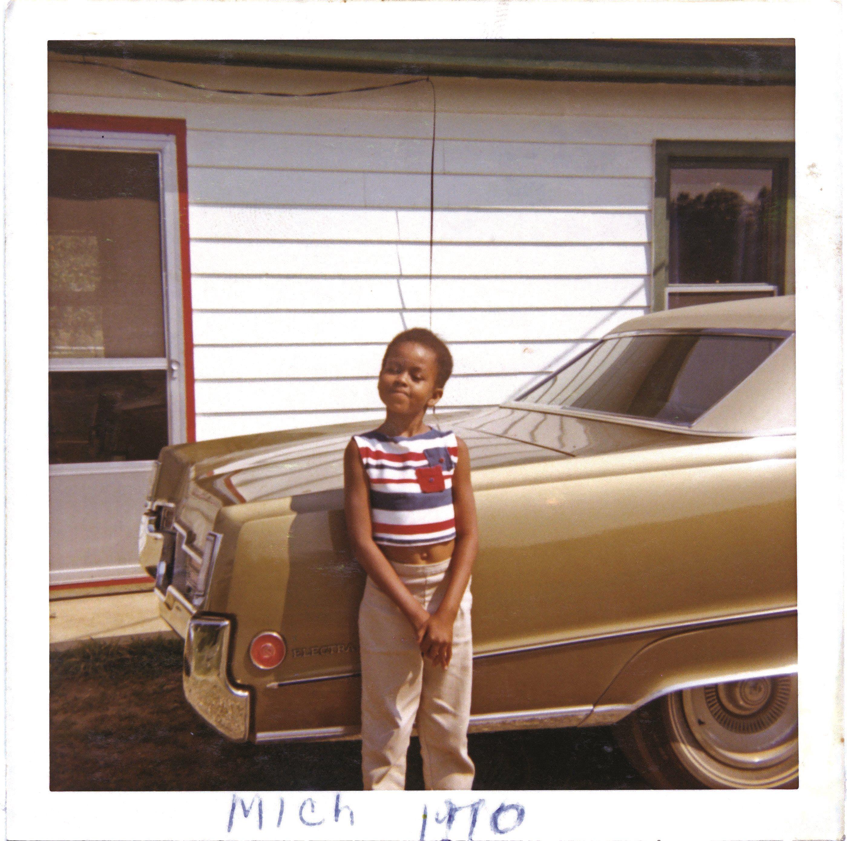 Michelle Obama som barn - fotografi fra 1970