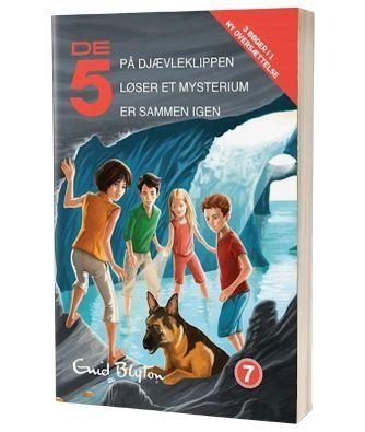 'De fem er sammen igen - De fem loeser et mysterium - De fem paa Djaevleklippen' af Enid Blyton