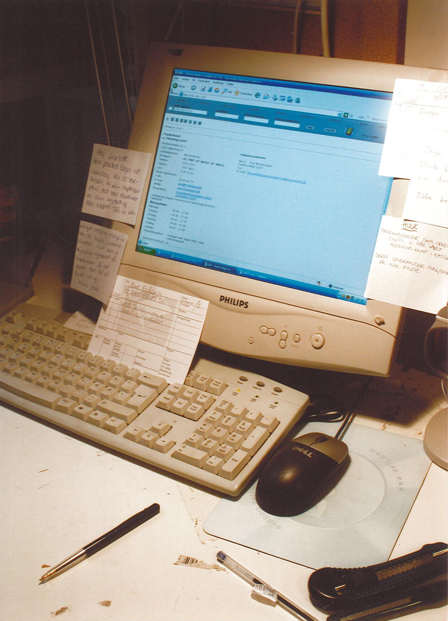 Travlhed på skrivebordet